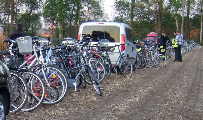 Viele Besucher sind mit dem Fahrrad gekommen