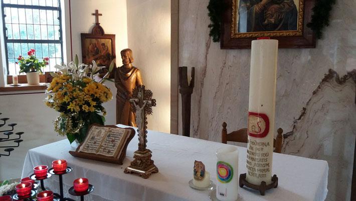 Der Altar der Kapelle