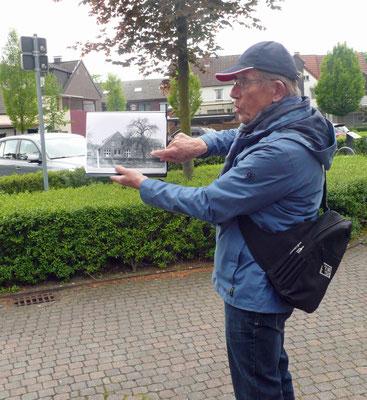Peter Dördelmann erklärt die Lage der Baumschule