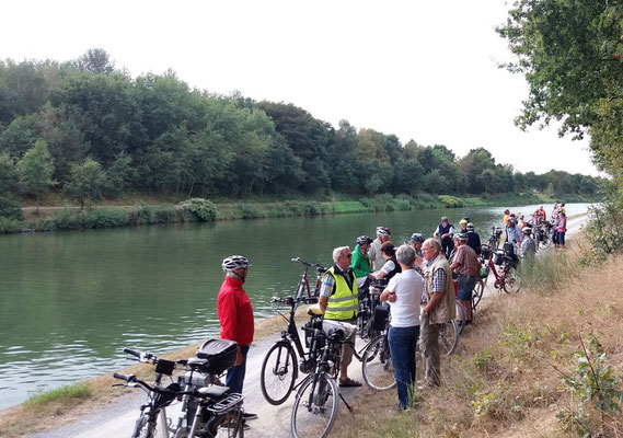 Rückfahrt am Wesel-Datteln-Kanal