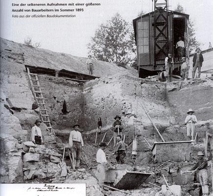 Steingewinnung für den Brückenbau