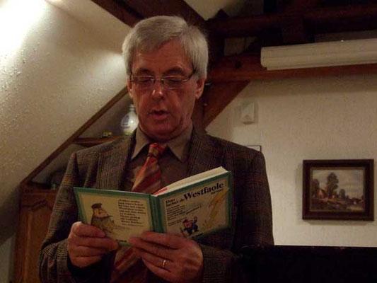 Ludger Besse liest lustige, plattdeutsche Gedichte vor