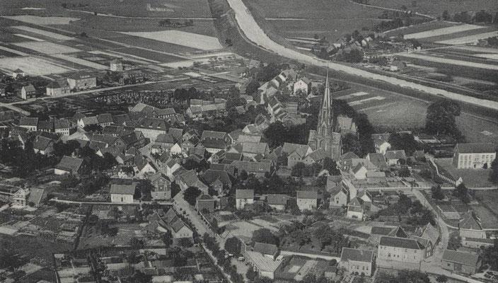 Luftaufnahme von Olfen mit dem DEK 1920/30er Jahre