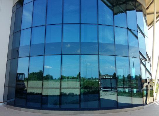 facciata tutta vetro industriale / Twincad nuova sede Costa di Rovigo