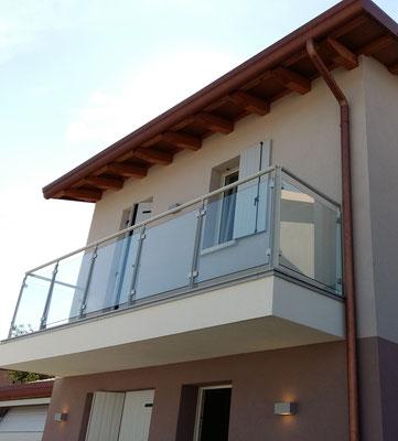 parapetto vetro residence / costruzioni Luigi Milan Rovigo