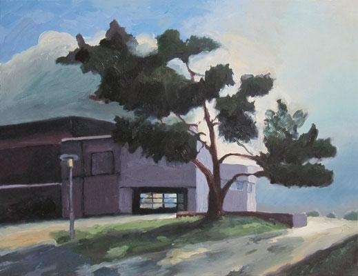 """""""Kiefer Vobue Fürth morgens"""", Öl auf Leinwand, 75 x 58 cm, 2007"""