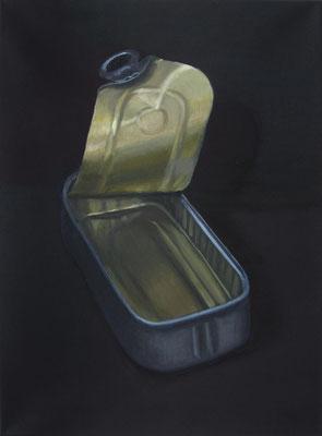 """Sardinendose 2"", Öl auf Leinwand, 48 x 65 cm, 2020"