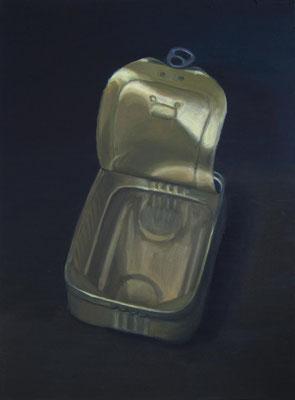 """Sardinendose 6"", Öl auf Leinwand, 48 x 65 cm, 2020"