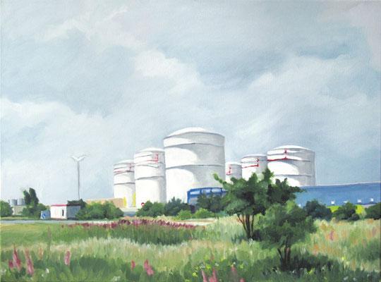 """Unitank Atzenhof"", Öl auf Leinwand, 90 x 60 cm, 2012"