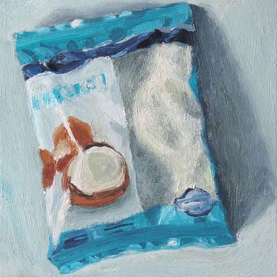 """Kokosflocken 3"", Öl auf Leinwand, 30 x 30 cm, 2012"