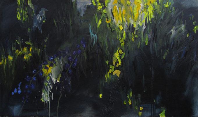 """""""Schwarze Wiese Atzenhof"""" , Öl auf Leinwand, 170 x 100cm, 2016"""