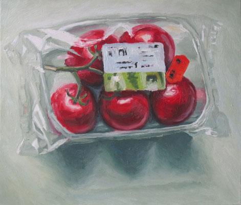 """Tomaten"" , Öl auf Leinwand, 70 x 60 cm, 2007"