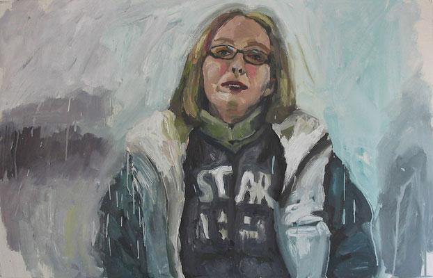 """""""Yvonne"""", Öl auf Karton, 80 x 50 cm, 2006"""