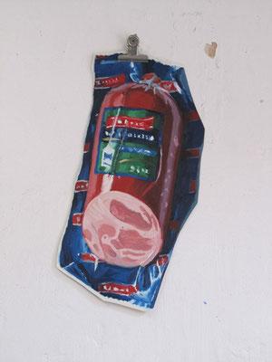 """""""Bierschinken"""", Öl auf Leinwand, frei, 30 x 50 cm, 2012"""