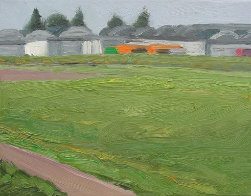 """Knoblauchsland 1"", Öl auf Leinwand, 30 x 24 cm, 2007"