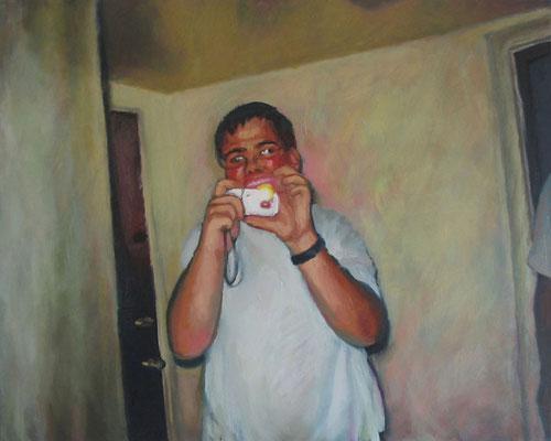 """Hans 1"" , Öl auf Leinwand, 100 x 80 cm, 2006"