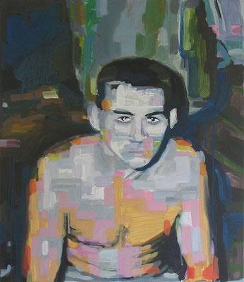 """Blaues Porträt"" , Öl auf Leinwand, 60 x 70 cm, 2006"