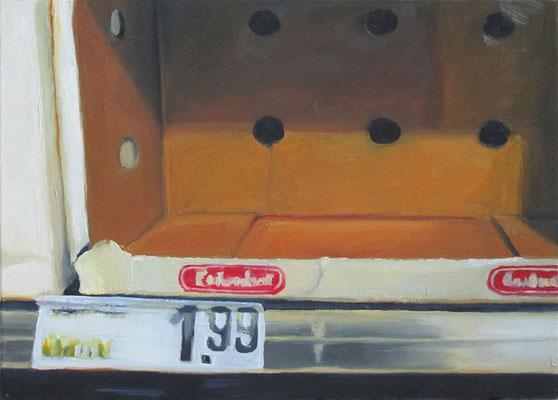 """1,99€"", Öl auf Leinwand, 66 x 55 cm, 2012"