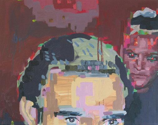 """""""fasching050"""" , Öl auf Leinwand, 70 x 55 cm, 2006"""