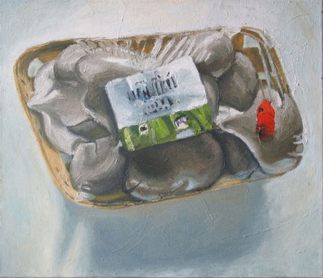 """Austernpilze"" , Öl auf Leinwand, 70 x 60 cm, 2007"