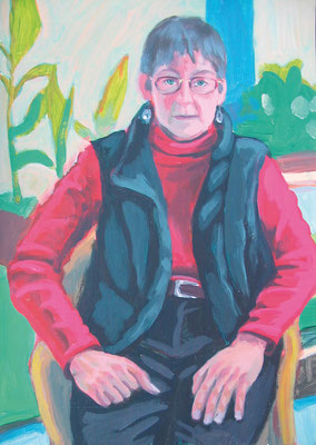 """Mama"", Acryl auf Karton, 50 x 70 cm, 2005"