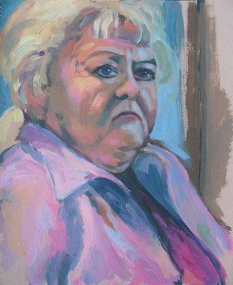 """Olga"", Acryl auf Karton, 42 x 52 cm, 2006"