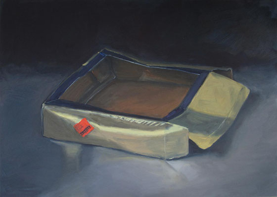 """Goldschachtel"", Öl auf Leinwand, 70 x 50 cm, 2020"
