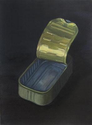 """Sardinendose 4"", Öl auf Leinwand, 48 x 65 cm, 2020"