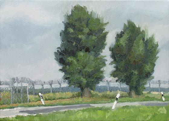 """Am Irrhain"", Öl auf Leinwand, 60 x43 cm, 2006"