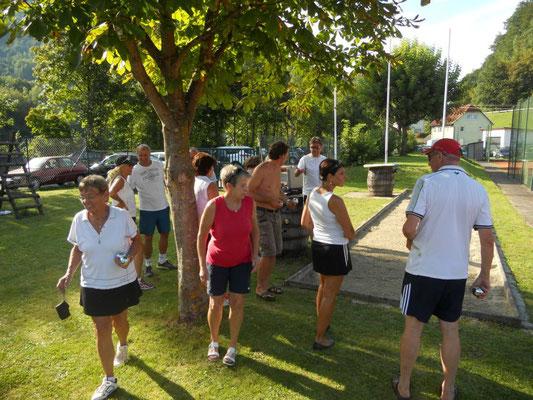 Boccia Turnier - die letzten Vorbereitungen