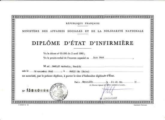 DIPLOME D'ETAT D'INFIRMIERE FACULTE DE MEDECINE MARSEILLE NORD