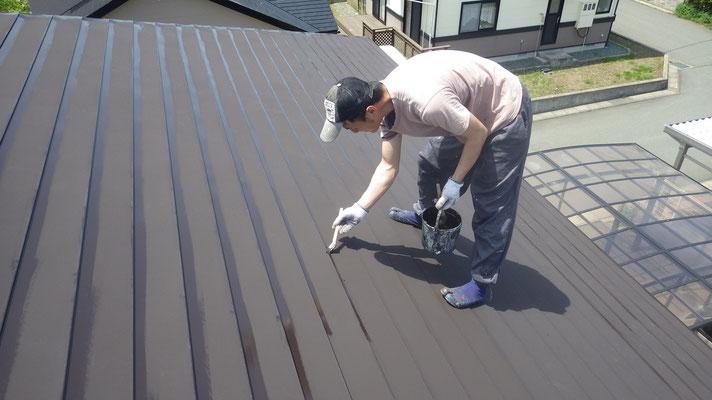 雫石、屋根塗装