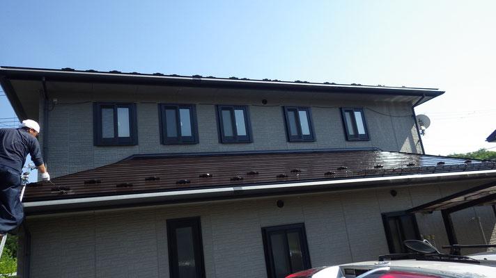 雫石、屋根塗り替え