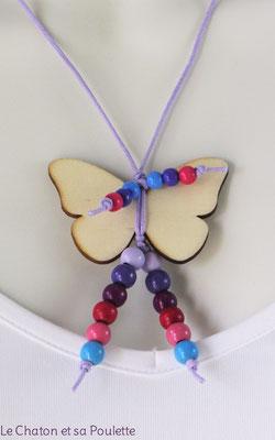 Collier Sensation 43 Papillon - détail - Le Chaton et sa Poulette