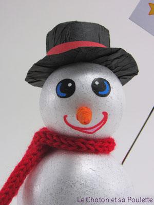 Bonhomme de neige - Le Chaton et sa Poulette