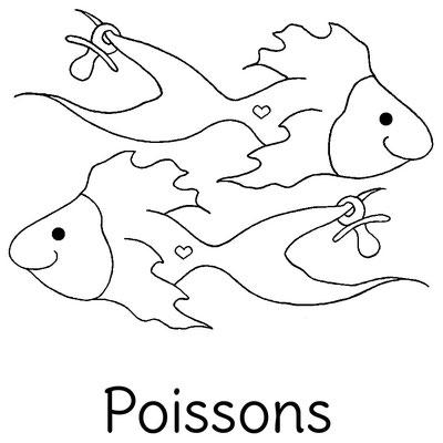 Dessin original Le Chaton et sa Poulette du signe astrologique Poissons