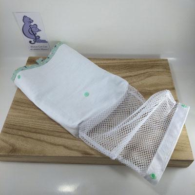 Sac à masques: le sachet retourné pour un meilleur lavage avec le filet de lavage inclus - Le Chaton et sa Poulette