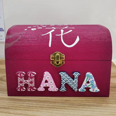 Coffret souvenirs de naissance de HANA