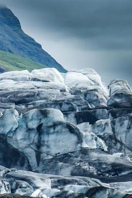 Eine Gletscherwand in Island