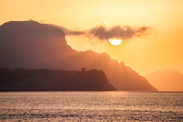 Sonnenuntergang auf Mallorca mit Blick auf Cap de Ferrutx