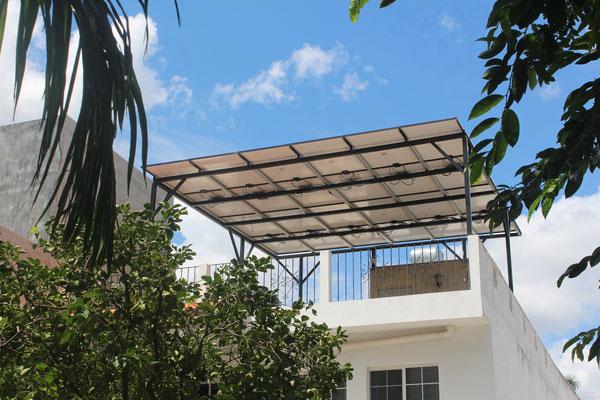 Techo solar de paneles solares