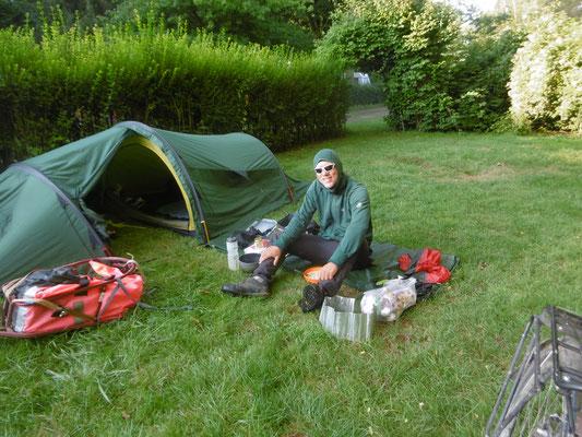 die letzte Nacht im Zelt