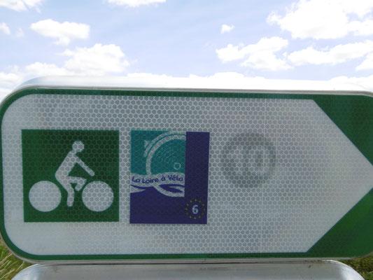 neues Schild, selbe Route