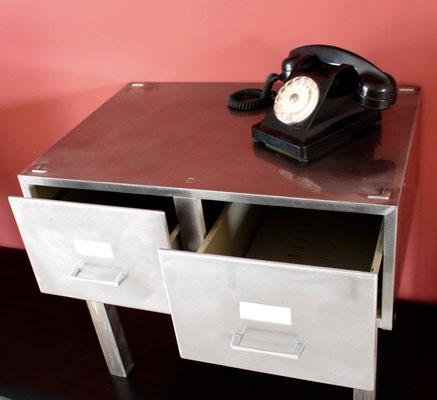 meuble métal TV