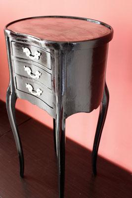 meuble baroque noir 3 tiroirs