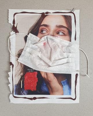 Corona-Kunst, Schutzmasken, Corona Art, Judith Weißig, 2021, Perspektiven öffnen Vielfalt sichern
