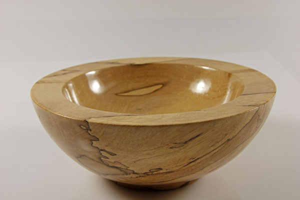 "Schale ""Touch me"" - Birke / h = 7,5 cm / Ǿ = 18,5 cm  / Oberfläche:  Washin-Urushi"
