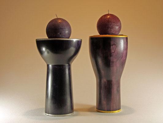 """Edel-Schalen / Kerzenleuchter """"Ladies in Lavender"""" - Zuckerahorn (Beschreibung siehe Einzeldarstellung) / Preis: 800,00 €"""