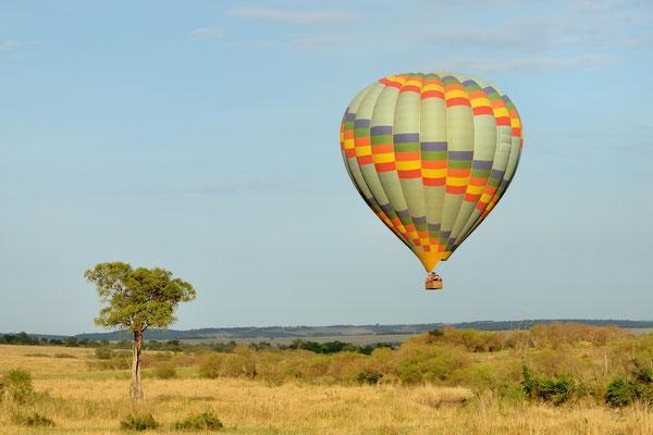 Balloon over the Masai Mara, Kenya