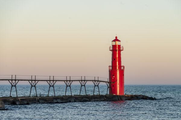 Algoma Lighthouse, Lake Michigan (USA)